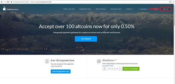 ساخت کیف پول در سایت coinpayments